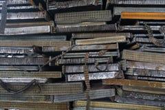 Pila di alluminio dalle parti dell'automobile Immagine Stock Libera da Diritti