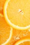 Pila di arance affettate Fotografie Stock Libere da Diritti