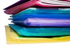 Pila di archivi di documento colorati del vinile immagine stock libera da diritti
