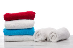 Pila di asciugamani Fotografie Stock