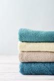 Pila di asciugamani di bagno Fotografia Stock