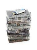 Pila di audio vassoi e di memoria Flash Fotografia Stock