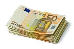 Pila di banconote Immagini Stock