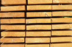 Pila di barre di legno Fotografia Stock Libera da Diritti