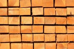 Pila di barre di legno Immagine Stock Libera da Diritti