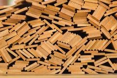 Pila di barre di legno Immagini Stock