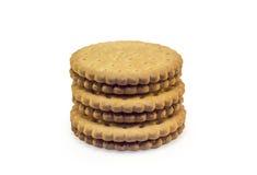 Pila di biscotti Immagine Stock Libera da Diritti
