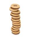 Pila di biscotti con il materiale da otturazione Immagini Stock Libere da Diritti