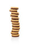 Pila di biscotti con il riempimento Fotografia Stock
