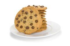 Pila di biscotti del cioccolato Fotografia Stock