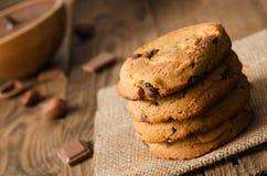 Pila di biscotti del cioccolato Fotografia Stock Libera da Diritti