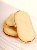 Pila di biscotti del cioccolato e della vaniglia Fotografia Stock