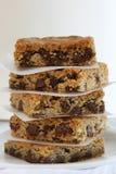 Pila di biscotti della barra Immagine Stock