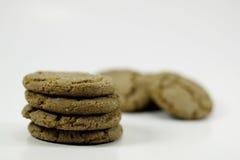 Pila di biscotti dello schiocco dello zenzero Immagine Stock