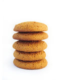 Pila di biscotti di farina d'avena Immagini Stock
