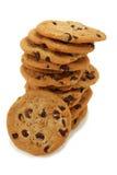 Pila di biscotti di pepita di cioccolato Fotografie Stock