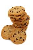 Pila di biscotti di pepita di cioccolato Fotografia Stock Libera da Diritti