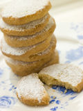Pila di biscotti di Polvorones Fotografie Stock