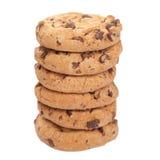 Pila di biscotti isolati Fotografia Stock Libera da Diritti