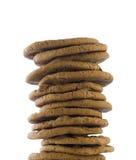 Pila di biscotti isolati Immagini Stock