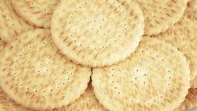 Pila di biscotti magri video d archivio