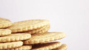Pila di biscotti magri archivi video