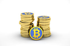 Pila di bitcoins Fotografia Stock