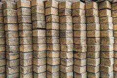 Pila di blocchi in calcestruzzo Fotografia Stock