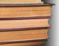 Pila di bordi del vecchio libro Fotografia Stock