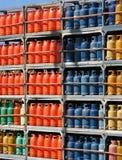 Pila di bottiglie di gas Fotografia Stock