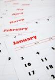 Pila di calendari mensili Immagini Stock