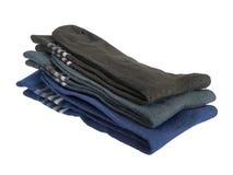 Pila di calzini degli uomini Fotografie Stock