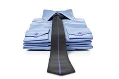 Pila di camice blu Immagine Stock Libera da Diritti
