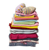 Pila di camice dei vestiti Fotografia Stock