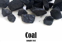 Pila di carbone Fotografia Stock