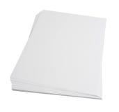 Pila di carta in bianco Fotografie Stock Libere da Diritti