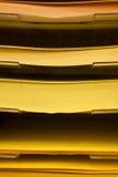 Pila di carte colorate Fotografia Stock Libera da Diritti