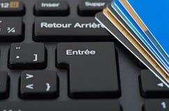 Pila di carte di credito Fotografia Stock Libera da Diritti