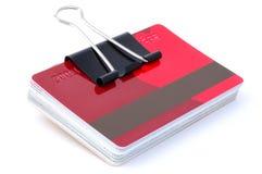 Pila di carte di credito Immagini Stock