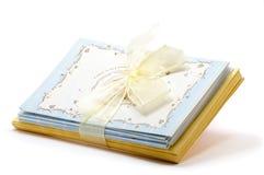 Pila di cartoline d'auguri Fotografia Stock