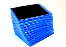 Pila di caselle del disco di Bluray immagini stock libere da diritti