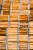 Pila di casse impaccanti di legno Immagine Stock Libera da Diritti