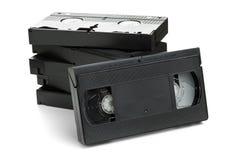 Pila di cassette di film del Video Home System Immagine Stock