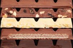 Pila di cioccolato Fotografia Stock Libera da Diritti