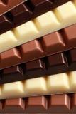 Pila di cioccolato Fotografia Stock