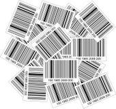 Pila di codici a barre Immagini Stock