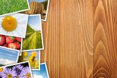 Pila di collage stampato delle immagini Immagini Stock Libere da Diritti