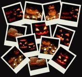 Pila di colpi della foto di Halloween Fotografie Stock