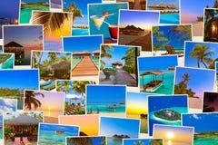 Pila di colpi della spiaggia delle Maldive & di x28; il mio photos& x29; Immagini Stock