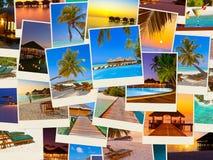 Pila di colpi della spiaggia delle Maldive (le mie foto) Fotografia Stock